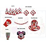 DISNEY MINNIE MOUSE Theme Birthday Party Supplies Super Saver All-in-One Pack - 7 Different Items - 52 Pcs - 10...