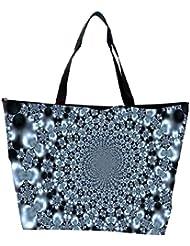 Snoogg Abstract Black Design Designer Waterproof Bag Made Of High Strength Nylon - B01I1KGMB6