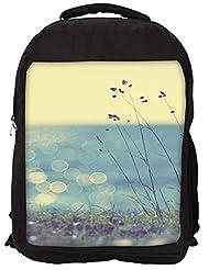 Snoogg Coast Grass Sunshine Backpack Rucksack School Travel Unisex Casual Canvas Bag Bookbag Satchel