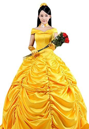Halloween 2017 Disney Costumes Plus Size & Standard Women's Costume Characters - Women's Costume Characters Women's Beauty and the Beast Belle Princess Cosplay Dress