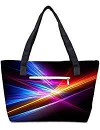 Pack Of 2 Colortful Lighter Combo Tote Shopping Grocery Bag With Coin Pencil Purse
