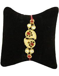 BOGATCHI Real Pearl Rakhi Bracelet With FREE Roli Chawal, Rakhi For Brother, Rakhi Gift For Brother, Classic Rakhi... - B07467J5XZ