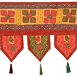Exclusive Toran Rust Cotton Floral Patch Work Toran For Living Room By Rajrang