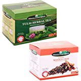 Ghasitaram Gifts Set Of 2 Packs Tulsi Herbal Tea Bags And Masala Tea Bags