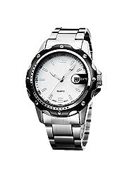 Creative 2015 Retro Strip Simple Men Quartz Watch Waterproof Business Men's Big Dial Calendar Watch - B016Y8AMIQ