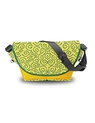 Atrangee Whirly Messenger Bag (Yellow, Green)
