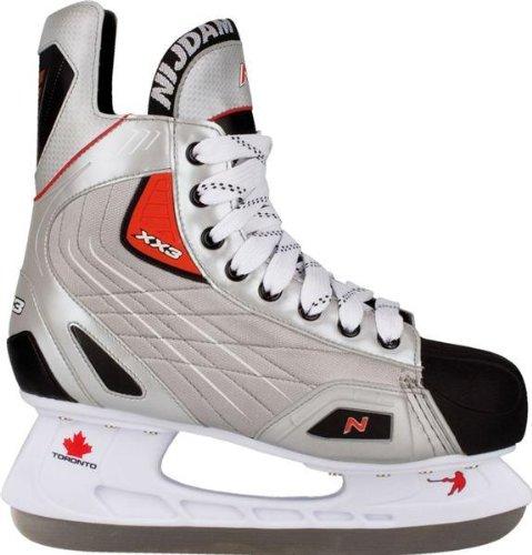 WSL Eishockey Schlittschuhe (EU 45||silber schwarz rot)