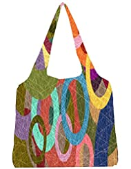 Snoogg Broken Circular 2402 Womens Jhola Shape Tote Bag