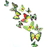 ADMI Removable 12 Pcs 3D Butterfly Wall Sticker Magnet Art Design Decorative Butterfly Sticker Decal For Home...