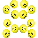 24 Pc Pack Yellow Happy Stress Balls Squeeze Balls