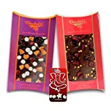 Chocholik Belgium Chocolate Gifts - Nutty And Fiery Combo Of Chocolate Bars With 3d Mobile Cover For IPhone 6...