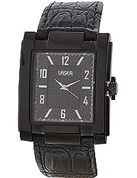 Laser Quartz Analog Black Dial Men's Watch - UV_5023_BLACK