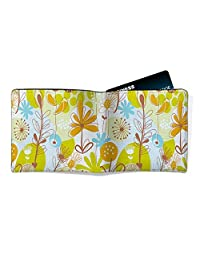 EzyPRNT Blossom Flowers Printed Canvas Leather Men's Wallet
