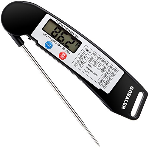 GDEALER Instant Read Thermometer Super Fast Digital Electronic Food Thermometer Cooking Thermometer...