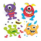 Monster Foam Finger Puppet Kits For Children To Decorate And Display (Pack Of 6)