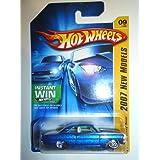Hot Wheels 2007 New Models 1:64 Scale Blue 1967 Chevy Nova Die Cast Car #09