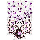 Felt & Laser Leaves Embroidery Cushion Covers Combo Ivory 40 X 40 Cms(10 Pcs Set)