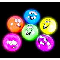 """2"""" Flashing Funny Face Ball, Case Of 144"""