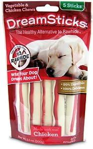Amazon.com : DreamBone Dream Sticks Chicken Dog Chew, 5