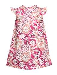 Budding Bees Girls Infant Pink Floral A-line Dress