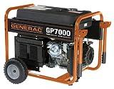 Generac 5625 GP7000 7,000 Watt 410cc OHV Portable Gas Powered Generator