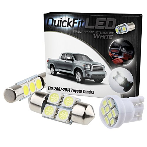 QuickFitLED White LED Interior Light Package Kit For Toyota Tundra 2007-2014 (14pcs)