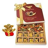 Baklava & Cocktail Dry Fruit Box With Small Ganesha Idol - Diwali Gifts - Diwali Gifts