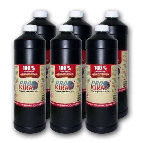 Gut bekannt 6x1 Liter Bioethanol / Bio Ethanol 100% Alkohol f?r Gel & Ethanol II79
