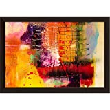ArtzFolio Modern Abstract Art - SMALL Size 13.5 Inch X 9.5 Inch (34.3 Cms X 24.1 Cms) Including 0.75 Inch Wide Frame - PREMIUM PAPER POSTER With DARK BROWN FRAME & CLEAR ACRYLIC GLASS FRONT: Wall Posters & Wall Paintings: DIGITAL PRINT Wall Art Pa