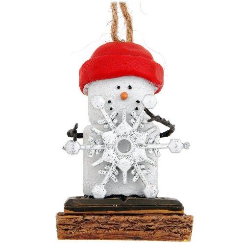S'mores Glitter Snowflake Ornament