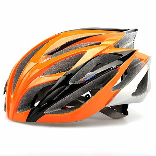 Baseca Elastic Ultralight Stable Road/Mountain Bike Cycling Helmets Mens Womens-Orange+Black