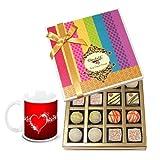 Chocholik Luxury Chocolates - Fabulous Collection Of White Truffles With Love Mug