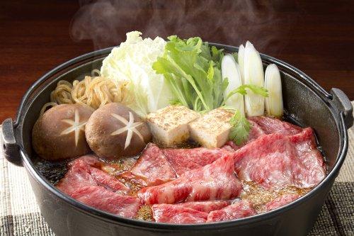 飛騨牛かたロース肉すき焼き鍋セット(野菜・糸こんにゃく・割下付)