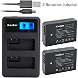 Kastar Battery (X2) & LCD Dual Slim Charger For Canon LP-E12 And Canon EOS 100D, EOS Rebel SL1, EOS M Camera System...