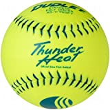 Dudley USSSA Thunder Heat Classic W Stamp Softball - Synthetic Cover - 12 Pack, 11-Inch/Blue Stitch
