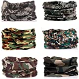 Kalily Pack Of 6PCS Headband Bandana Protective Multi-use Seamless Breathable Neck And Head Tube Gaiter. Can Be...