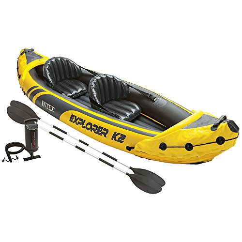 Intex Explorer K2 Kayak, 2-Person Inflatable Kayak Set with Aluminum Oars and...