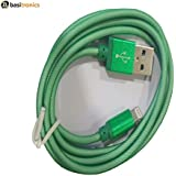 Basitronics Apple Lightning To USB Metal Net Charging And Data Cable For Iphone,3 Feet (0.9 Meters) Green
