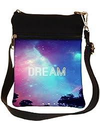 Snoogg Dream Universe Cross Body Tote Bag / Shoulder Sling Carry Bag