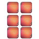 MeSleep Happy Raksha Bandhan Wooden Coaster-Set Of 6 - B013LEQLYA