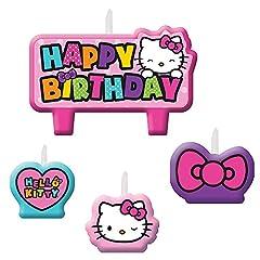 Amscan Hello Kitty Rainbow Birthday Candle Set
