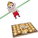 Bal Ganesha Kids Rakhi With 24 Pcs Ferrero Rocher