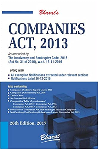Companies Act 2013 -Book 26 Edition 2017- Bharat Publication