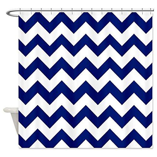 Navy Blue Chevron Shower Curtain
