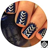 Single Chevron Arrow Dagger Stencils Nail Vinyls, Tape, Guides, Stickers For Easy Nail Art By Twinkled T Sheet...