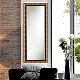 Elegant Arts & Frames Metallic Dark Brown Wall Decorative Wooden Mirror 12 Inch X 36 Inch