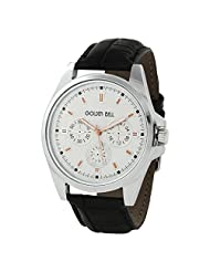 Golden Bell Stylish White Dial Chronograph Look Watch - B00WWG5MKS