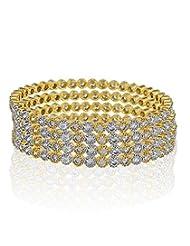 Jewels Deals Glorious American Diamond Set Of 4 Bangles