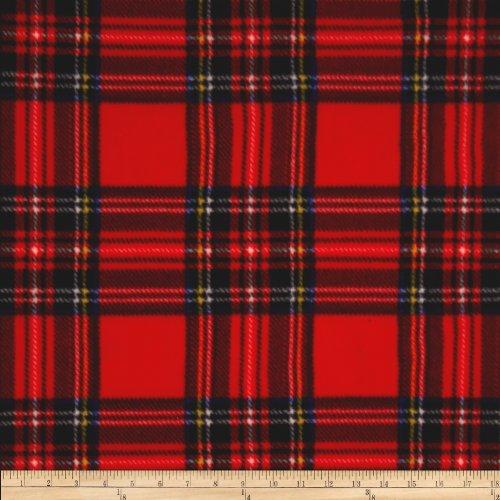 Winter Fleece Stewart Plaid Red Fabric