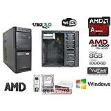 Galleria fotografica RGDIGITAL - Desktop PC AMD A4-6300 2x3.7GHz (turbo fino a 3.90GHz) 1TB HDD / 8GB RAM / AMD Radeon HD 8370D / WiFi...